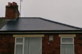 house with re-roof